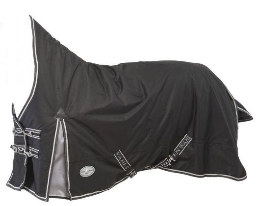 """Непромокаемая попона с полной шеей """"RAIN BUSTER Trot"""" для рысаков, на утеплителе 150 г/м, ткань 600D"""