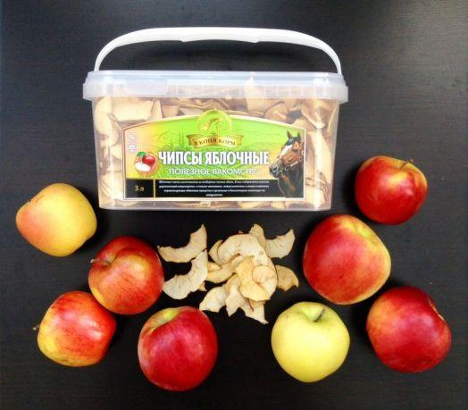 """Чипсы яблочные """"В коня корм"""". В пластиковом контейнере 1 и 3 литра"""