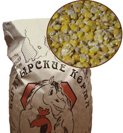 Микронизированная плющеная кукуруза 30 кг. Богатырские корма