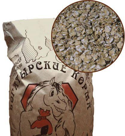 Микронизированные пшеничные хлопья 30 кг. Богатырские корма